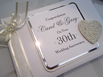30th Wedding Anniversary Guest Book